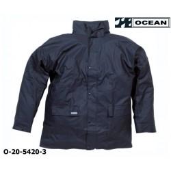 Regenjacke leicht - PU Comfort Stretch - Ocean 20-5420 marine aus 210gr PU
