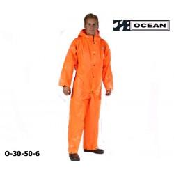 Regen-Overall orange OCEAN 325 gr PVC mit Kapuze