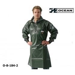 Langes Ölhemd 540 Gr PVC Fischerei olive OCEAN CLASSIC, OFF SHORE & FISHING, OCEAN 8-184-2
