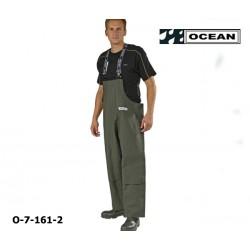 OCEAN Heavy Duty Regen-Latzhose für Waldarbeiter, breites Modell, mit Knietaschen