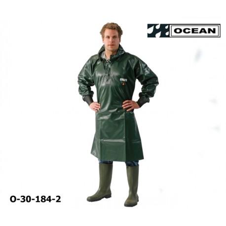 OCEAN Langes Ölhemd 325 gr PVC mit Neoprenmanschetten olivgrün