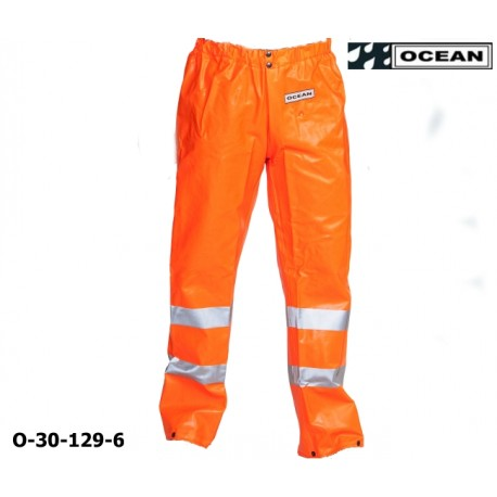 Warnschutz Regenhose fluoreszierend orange - Ocean 30-129 High-Vis Offshore & Fishing