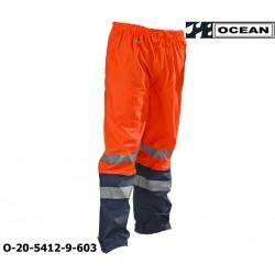 Warnschutz Regenhose leicht - PU Comfort Stretch Ocean Bundhose 20-5412-9 orange / marine