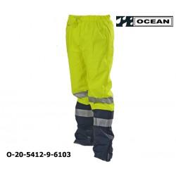 Warnschutz Regenhose leicht - PU Comfort Stretch Ocean Bundhose 20-5412-9 gelb / marine
