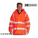 Warnschutz Regenjacke leicht - 210 Gr. PU Comfort Stretch - Ocean 20-5420-99 orange