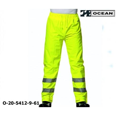 Warnschutz Regenhose leicht - PU Comfort Stretch Ocean Bundhose 20-5412-9 gelb