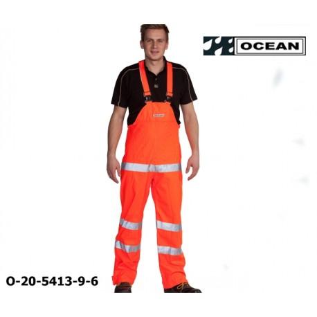 Warnschutz Regenlatzhose leicht PU Comfort Stretch Ocean Latzhose 20-5413-9 orange