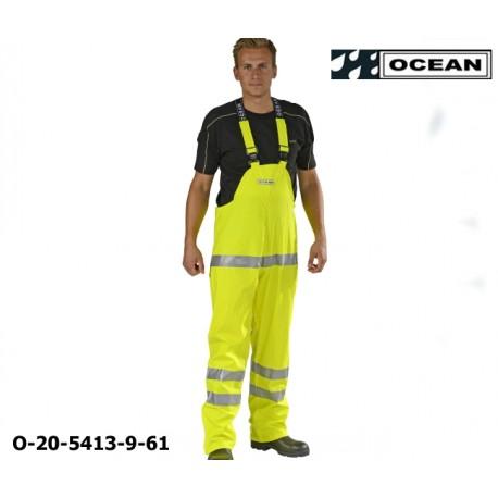 Warnschutz Regenlatzhose leicht PU Comfort Stretch Ocean Latzhose 20-5413-9 gelb