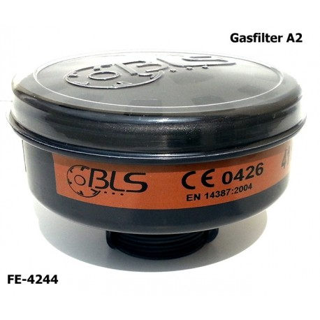 Gasfilter A2, Atemschutzfilter, EN 14387, Rundgewinde EN 148-1