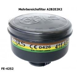 Atemschutzfilter, Mehrbereichsfilter A2 B2 E2 K2, EN 14387, Rundgewinde EN 148-1