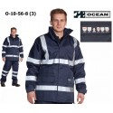 Warnschutz Jacke High Vis Multinorm, wind- & wasserdicht, 3 in 1, flammhemmend, marine