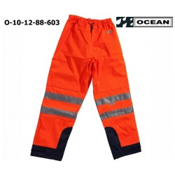Warnschutz Bundhose mit Proban, High Vis Multinorm, Wind- und Wasserdicht, Antistatic, warnorange