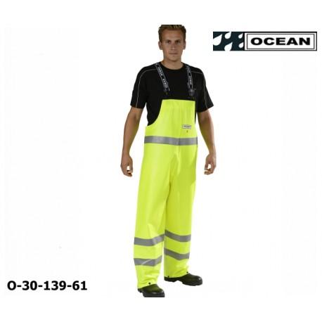 Warnschutz Regen-Latzhose fluoreszierend gelb - Ocean 30-139 High-Vis Offshore & Fishing