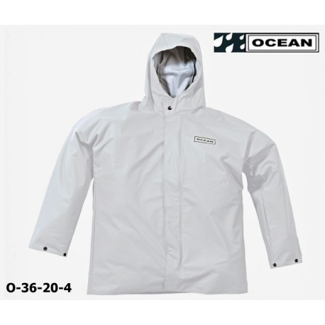 Regenjacke weiß, OCEAN 36-20 COMFORT HEAVY , PU / Nylon Landwirtschaft, Angler, Jäger