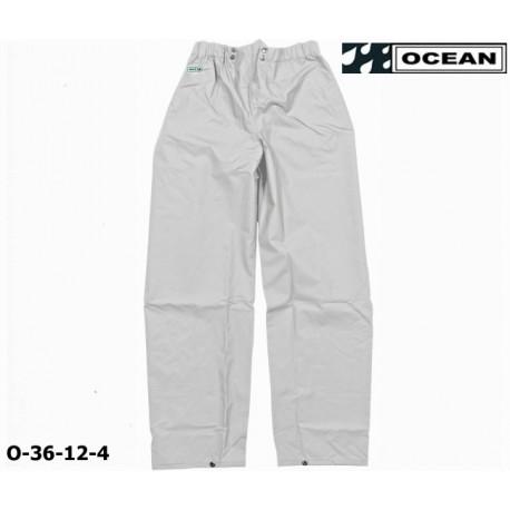 Regenhose OCEAN 36-12 COMFORT HEAVY, weiß, PU/Nylon Landwirt, Angler, Jäger