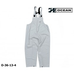 Regenlatzhose weiß OCEAN 36-13 COMFORT HEAVY, PU/Nylon Landwirt, Angler, Jäger