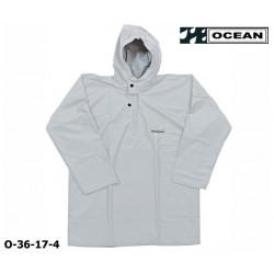 Regen-Fischerbluse weiß Smock, Regenbekleidung OCEAN 36-17 COMFORT HEAVY