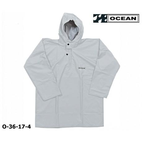 Regen-Fischerbluse weiß Smock, Regenbekleidung OCEAN 36-17 COMFORT Heavy,