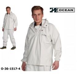 Reinigungs-Schlupfjacke weiß Chemieresistent Ocean 36-1517 Comfort Cleaning EN14605
