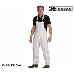 Reinigungslatzhose weiß Chemieresistent Ocean 36-1513 Comfort Cleaning EN14605