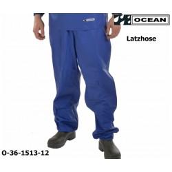 Reinigungslatzhose blau Chemieresistent Ocean 36-1513 Comfort Cleaning EN14605