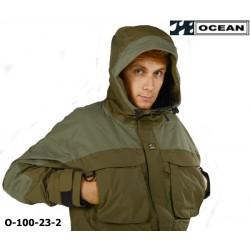Storm Jacke - Outdoorjacke OCEAN für Angler und Jäger - wind- und wasserdicht olivgrün