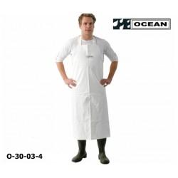 Schürze Ocean Offshore weiß flammhemmend und resistent gegen Öl und Fett EN 343 EN14116