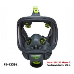 Atemschutz Vollmaske BLS - EN 136 Klasse 2, Panorama Maske mit Rundgewinde EN 148-1