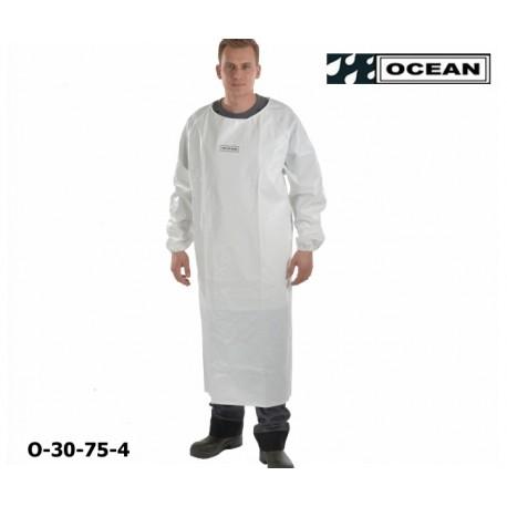 Ärmelschürze Ocean Offshore weiß flammhemmend, resistent gegen Öl und Fett EN 343 EN14116