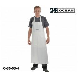 Schürze weiß Ocean Comfort Heavy EN 343 PU auf Nylon-Trägergewebe mit Bauchverstärkung