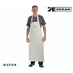 Schürze weiß Ocean Industrieschürze EN 343 PVC auf Polyester-Trägergewebe Bauchverstärkung