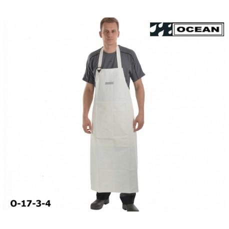 Schürze weiß Ocean Industrieschürze EN 343 PVC auf Polyester-Trägergewebe Bauchverstärkung det