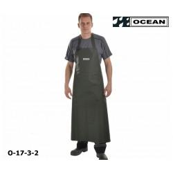 Schürze olive Ocean Industrieschürze EN 343 PVC auf Polyester-Trägergewebe Bauchverstärkung