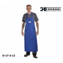 Schürze blau Ocean Industrieschürze EN 343 PVC auf Polyester-Trägergewebe Bauchverstärkung