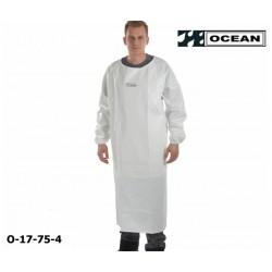 Ärmelschürze weiß Ocean Industrieschürze EN 343 PVC auf Polyester mit Bauchverstärkung