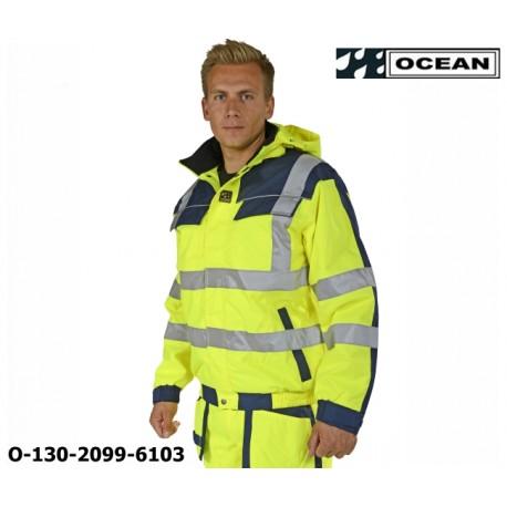 Warnschutz Jacke gelb-marine Ocean Medusa bietet extrem guten Schutz gegen Wind und Wetter det