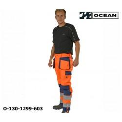 Warnschutz Bundhose orange-marine Ocean Medusa atmungsaktive Wetterschutzhose