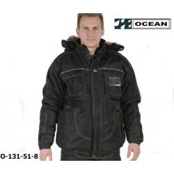 Winter Pilotenjacke Ocean Medusa Polar schwarz, atmungsaktive, gefütterteTop Wetterschutzjacke
