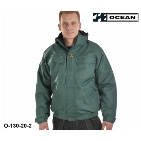 Ocean Medusa atmungsaktive Außenarbeitsjacke grün, Wetterschutzjacke mit leichter Wattierung
