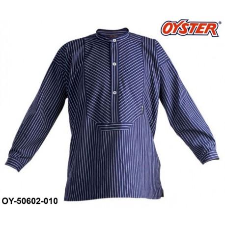 Original Finkenwerder Fischerhemd Buscheromb blau / weiß gestreift Marke OYSTER®